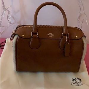 Saddle leather Coach Bag